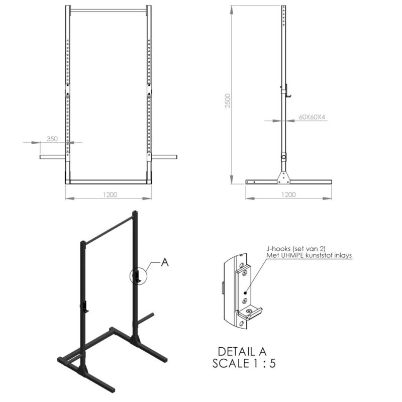 Stand alone pull-up bar OUTDOOR