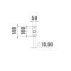 2021019 - Single bar 1800 mm korte flens - 3