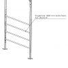 2021019 - Single bar 1800 mm korte flens 3D toepassing