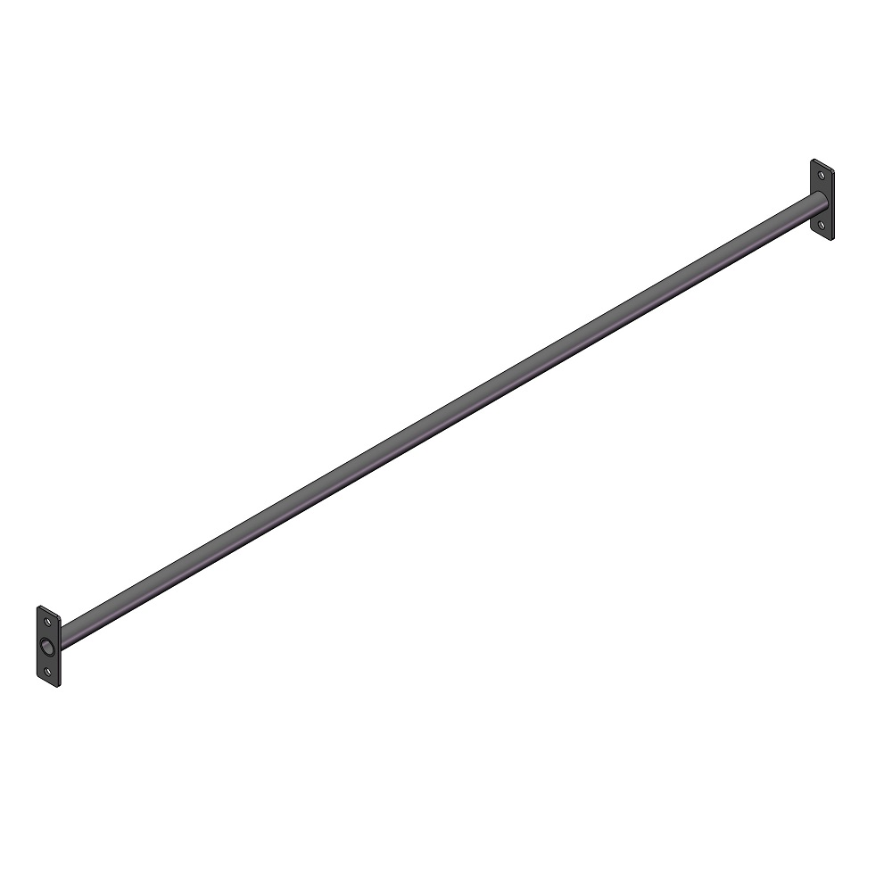 2021019 - Single bar 1800 mm korte flens 3D
